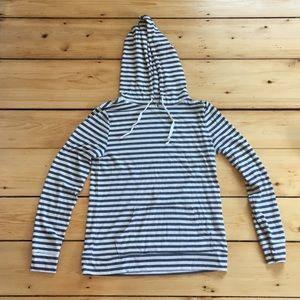 Thin striped hoodie